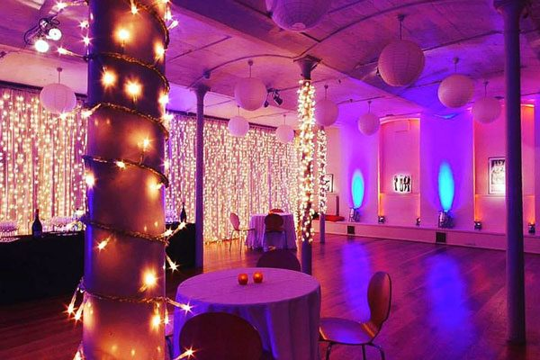 Lower Hall party lighting excellent for parties