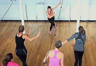 Zumba dance class using upper hall on day-hire basis